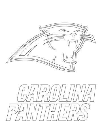 carolina panthers logo coloring page free printable