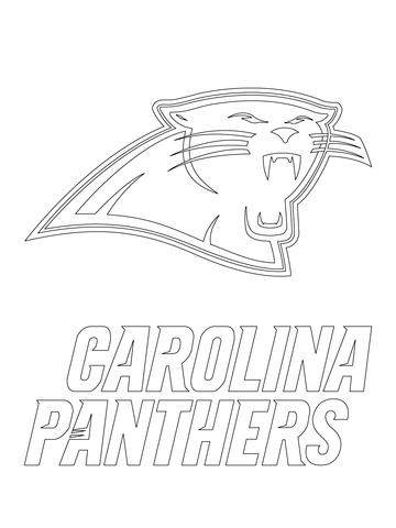 carolina panthers logo coloring page free printable