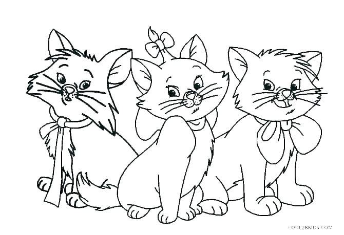 cartoon cat coloring pages kitty schager