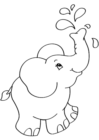 cartoon elephant coloring page free printable coloring pages
