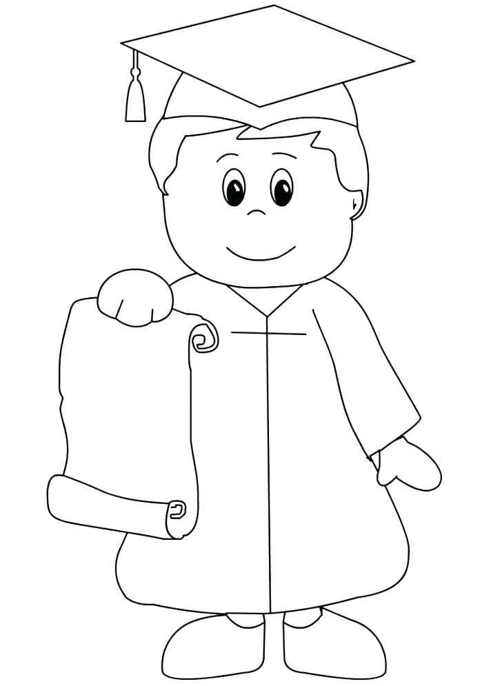 cartoon graduation coloring pages download fun for kids