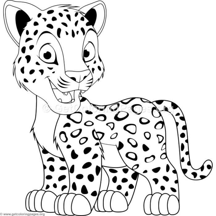 cartoon leopard coloring pages