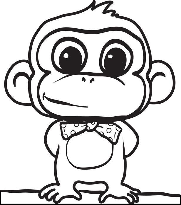 cartoon monkey coloring page 2 uhh ausmalbilder