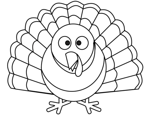 cartoon turkey coloring page free printable coloring pages