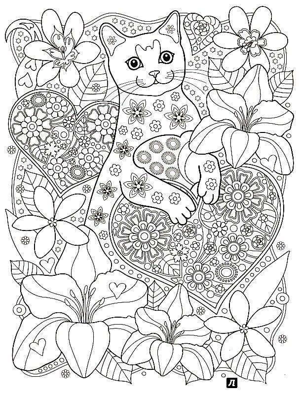 cat coloring pages for adults at getdrawings free for