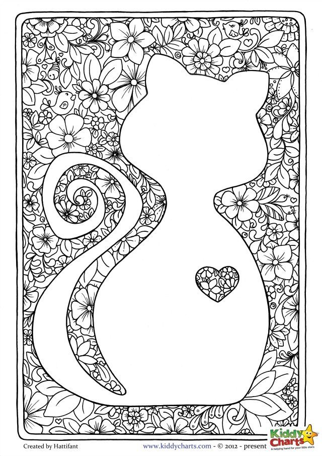cat coloring pages for adults part 7