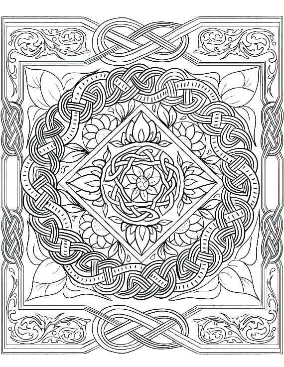 celtic coloring pages cross page for preschool knot pickspro