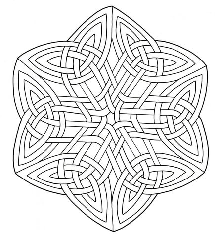 celtic knotwork coloring page free printable coloring pages