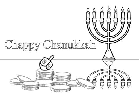 chappy chanukah coloring page free printable coloring pages