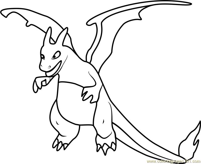 charizard pokemon go coloring page free pokmon go