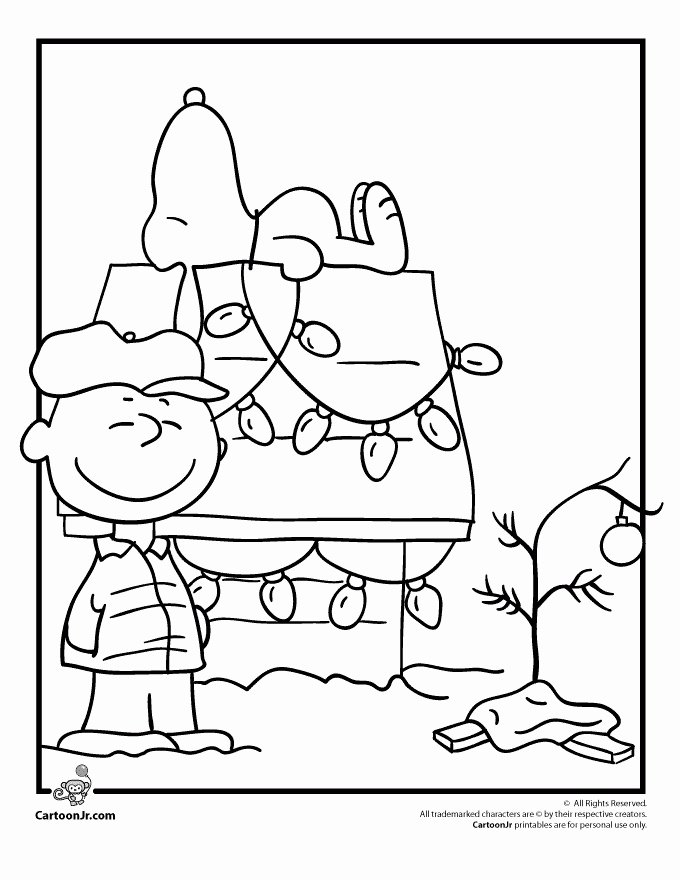 charlie brown christmas coloring page lovely charlie brown