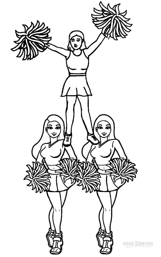 cheerleading coloring pages printable cheerleading coloring