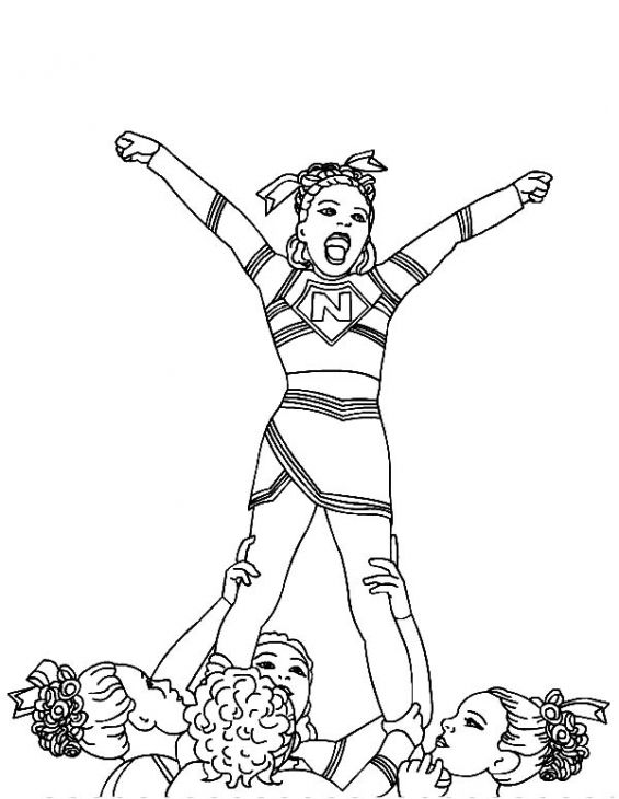 cheerleading stunt coloring pages at getdrawings free