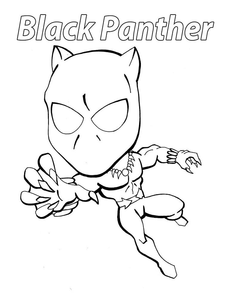 chibi black panther coloring page free printable coloring