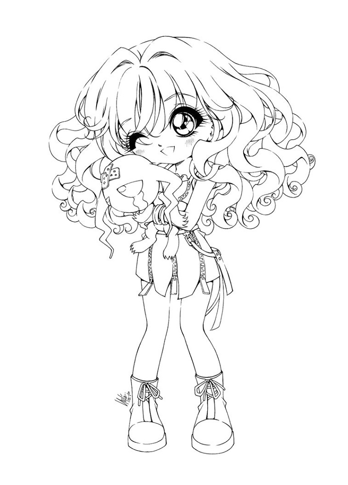 chibi coloring pages printable shelter