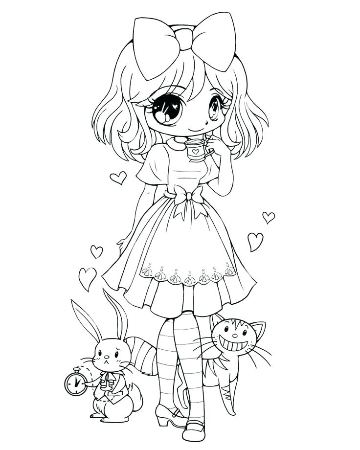 chibi coloring pages to print at getdrawings free for