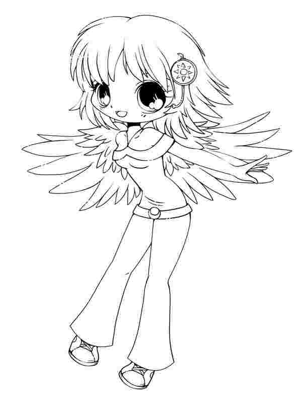 chibi girl coloring pages printable huangfei