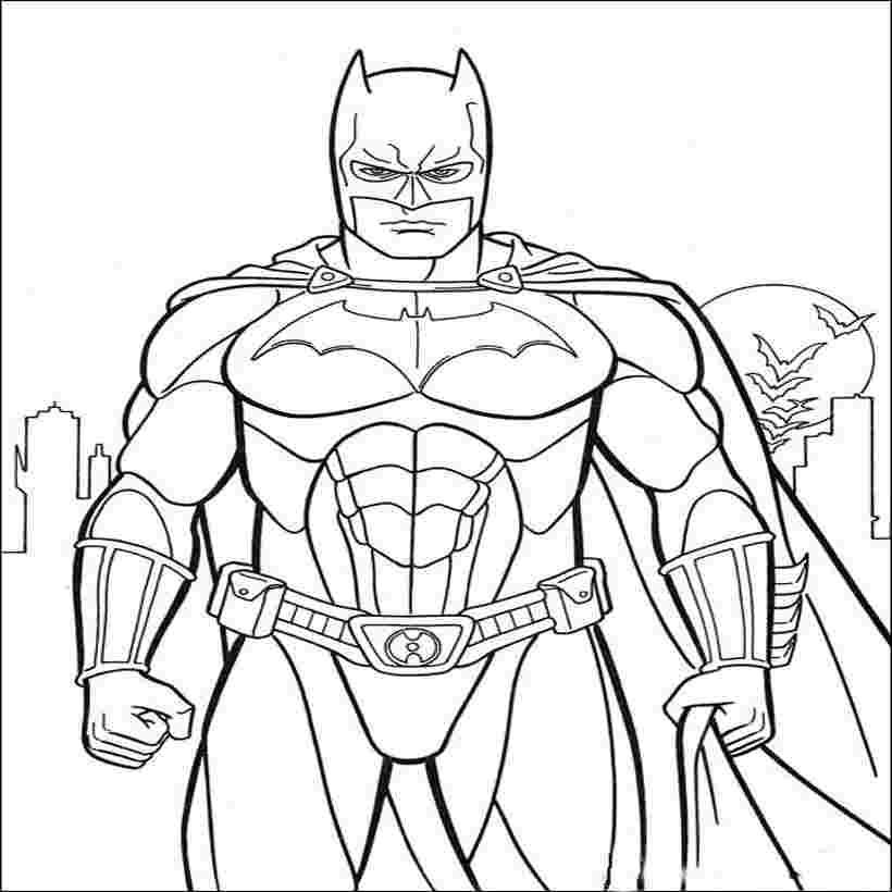 childrens coloring pages batman free printable batman