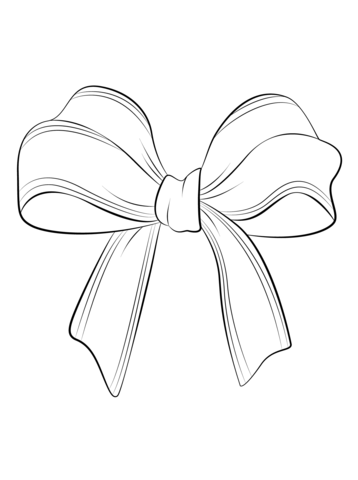 christmas bow coloring page free printable coloring pages
