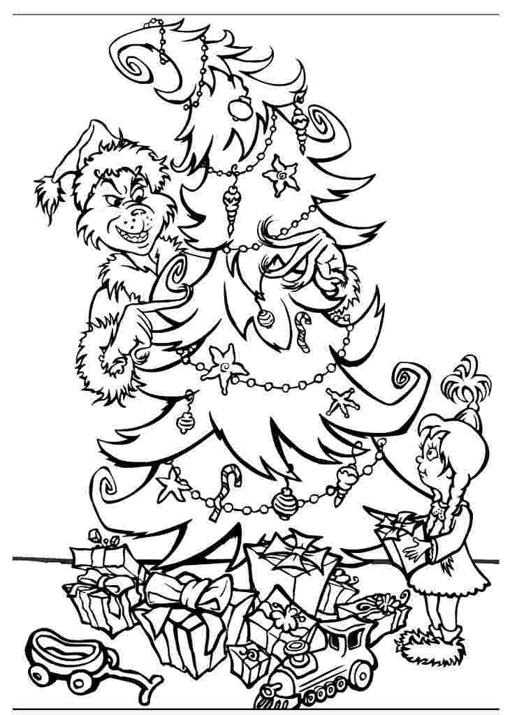 christmas coloring pages printable grinch grinch coloring
