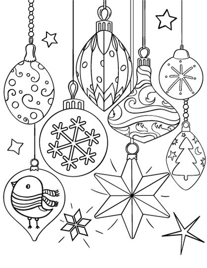 christmas ornament coloring pages part 1