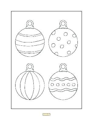 christmas ornaments color pages bikkuriyasgikiclub