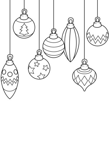 christmas ornaments coloring page free printable coloring