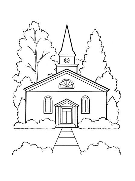 church coloring page lds coloring pages family coloring