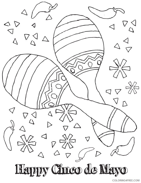 cinco de mayo coloring pages maracas coloring4free
