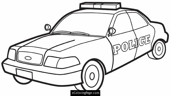 city police car printable coloring page kostenlose