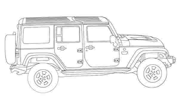 classic jeep coloring pages how to draw a jeep wrangler