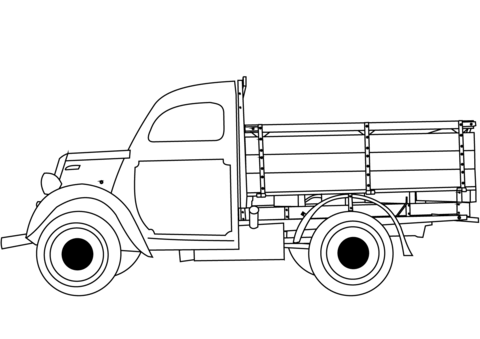 classic truck coloring page free printable coloring pages