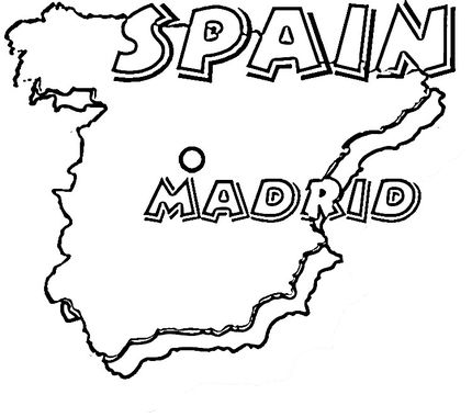 click to see printable version of map of spain madrid is