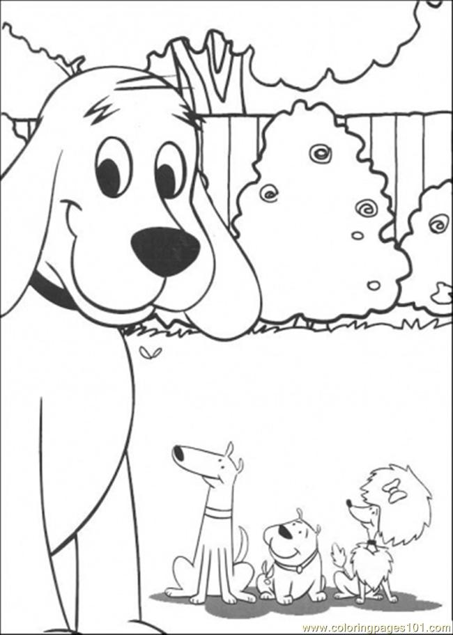 clifford and friends together coloring page free clifford