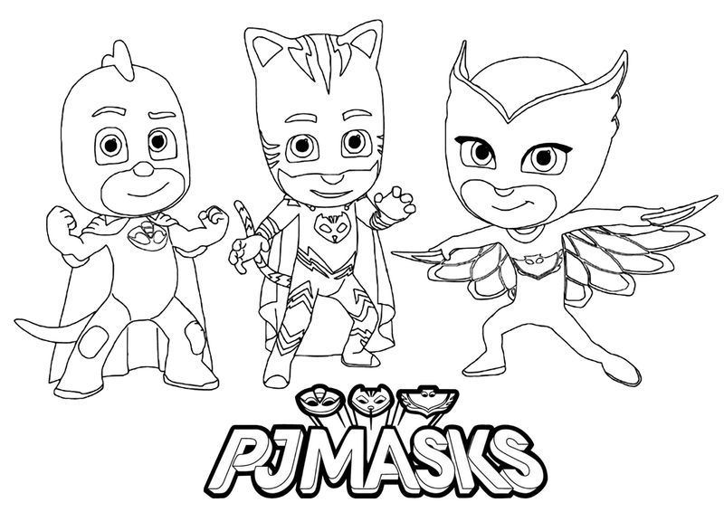 collection of pj masks coloring pages idea free kids