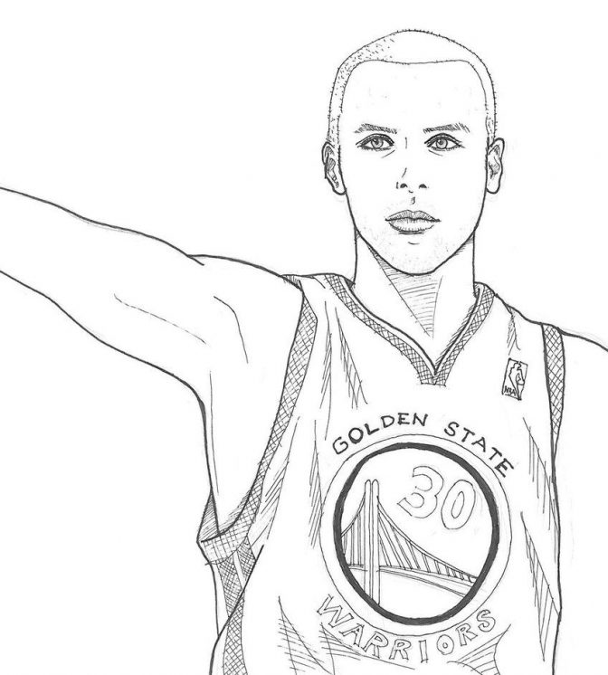 color pages color pages stephen curry coloring awesome