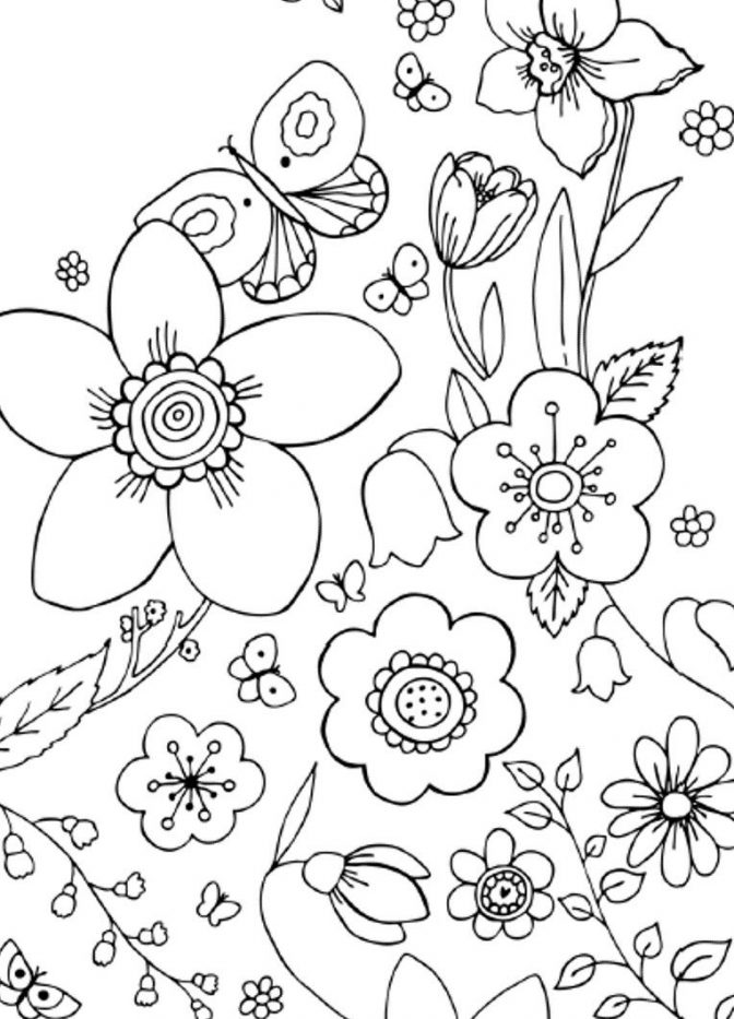 color pages spring flowers coloring pages for adults