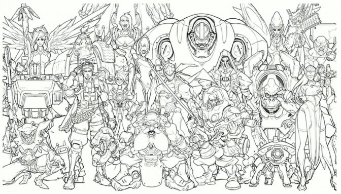 color pages staggering overwatch coloring pages image