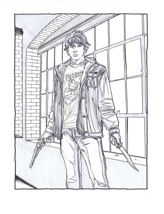 color pages supernatural coloring page sam winchester