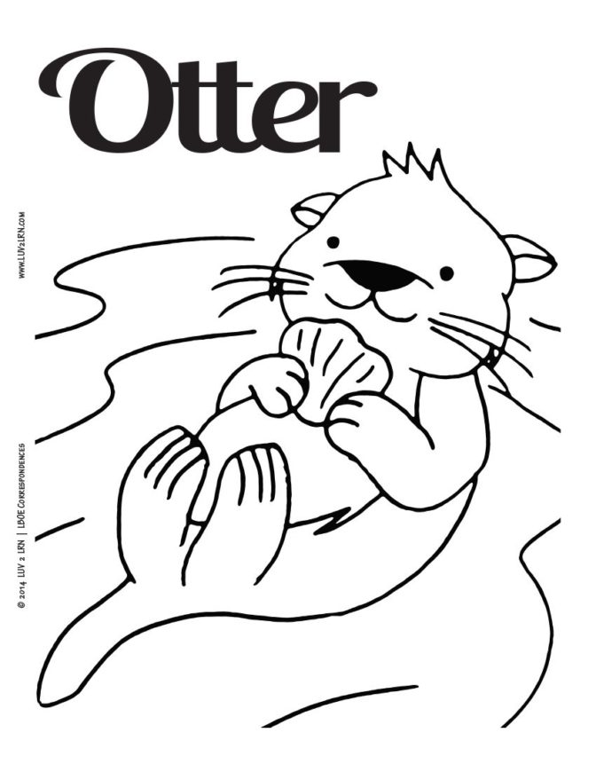 coloring book 33 awesome otter coloring pages river otter