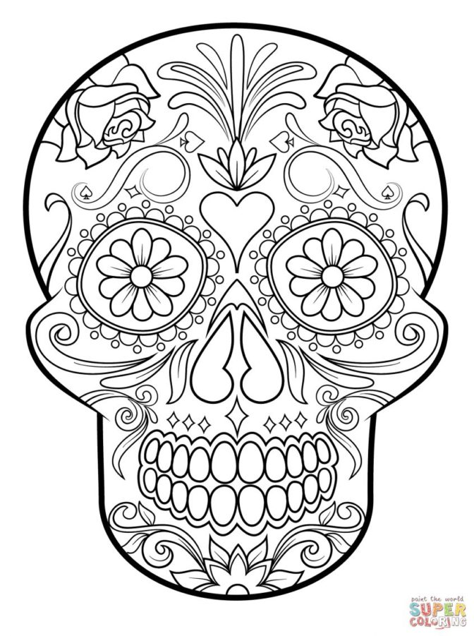 coloring book 36 incredible sugar skull coloring pages