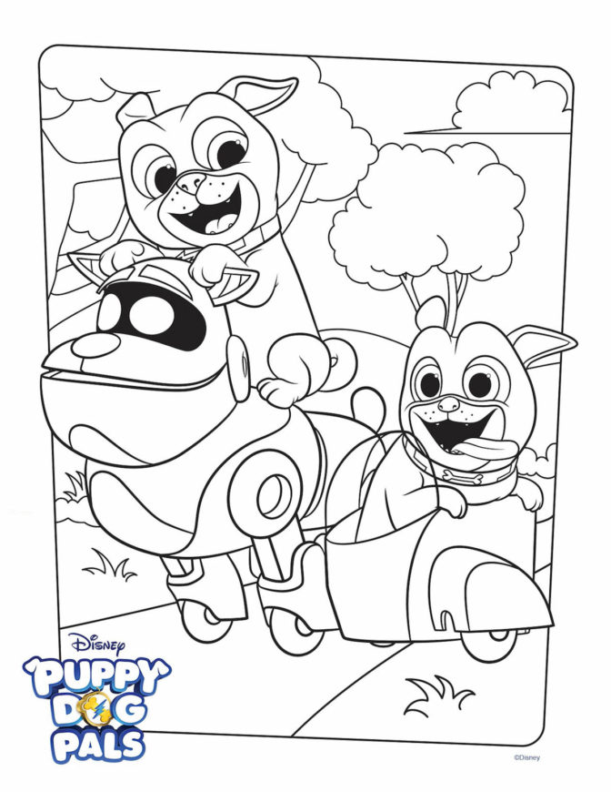 coloring book dogs coloring pages puppy dog pals page