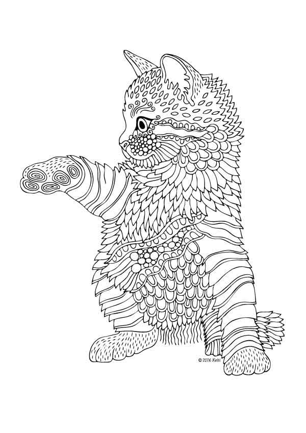 coloring book pages kittens pusat hobi
