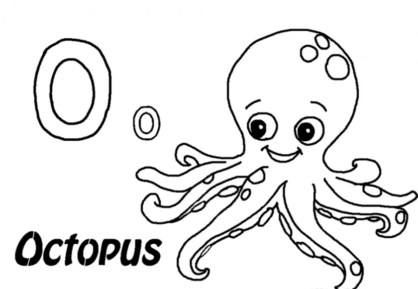 coloring book pages octopus pusat hobi