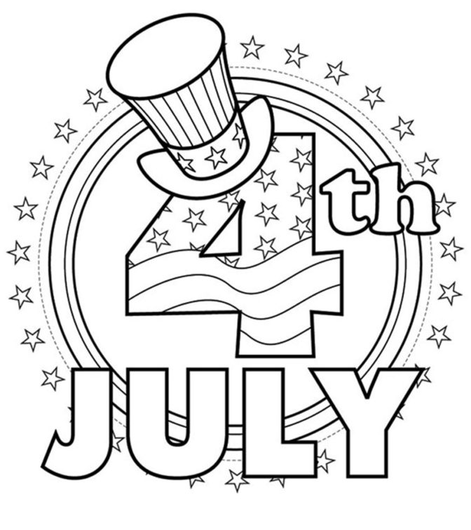 coloring book remarkable 4th of july color pages picture