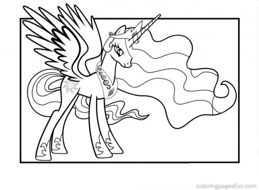 coloring books princess celestia coloring pages posh books