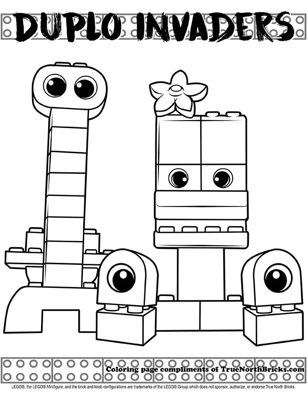 coloring page duplo invaders lego movie coloring pages