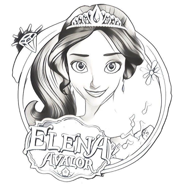 coloring page elena of avalor 2