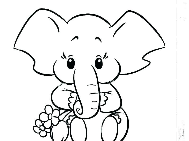 coloring page elephant filelocker