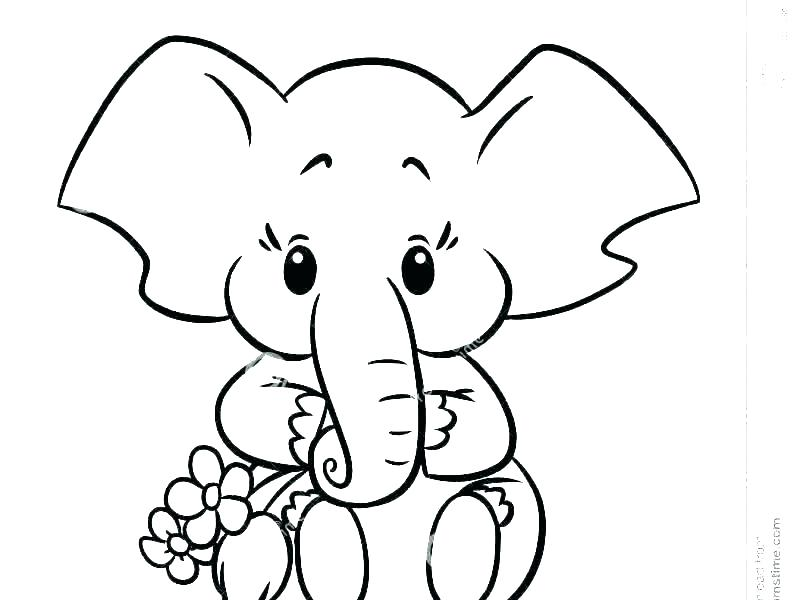 coloring page elephant filelocker